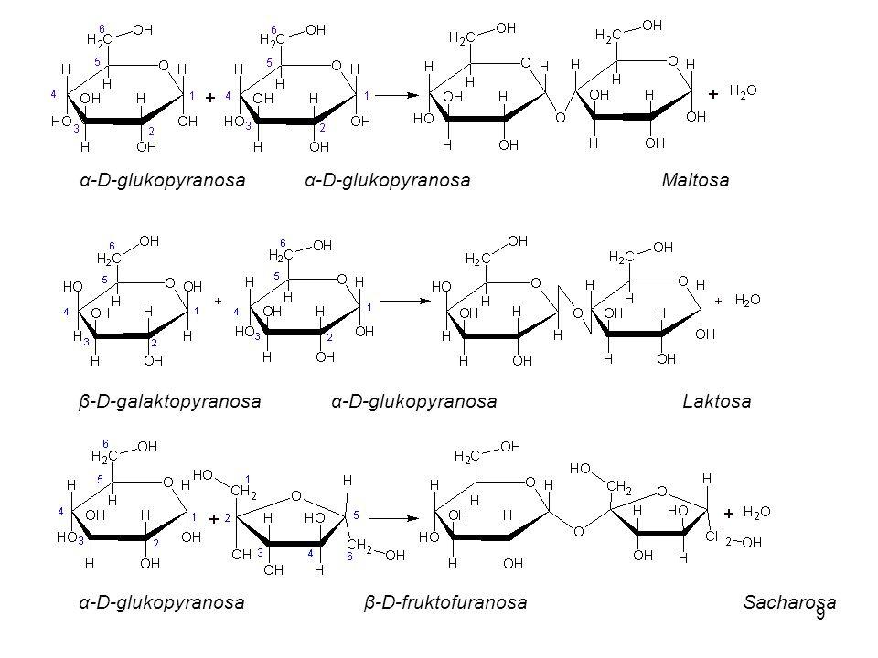 α-D-glukopyranosa α-D-glukopyranosa Maltosa