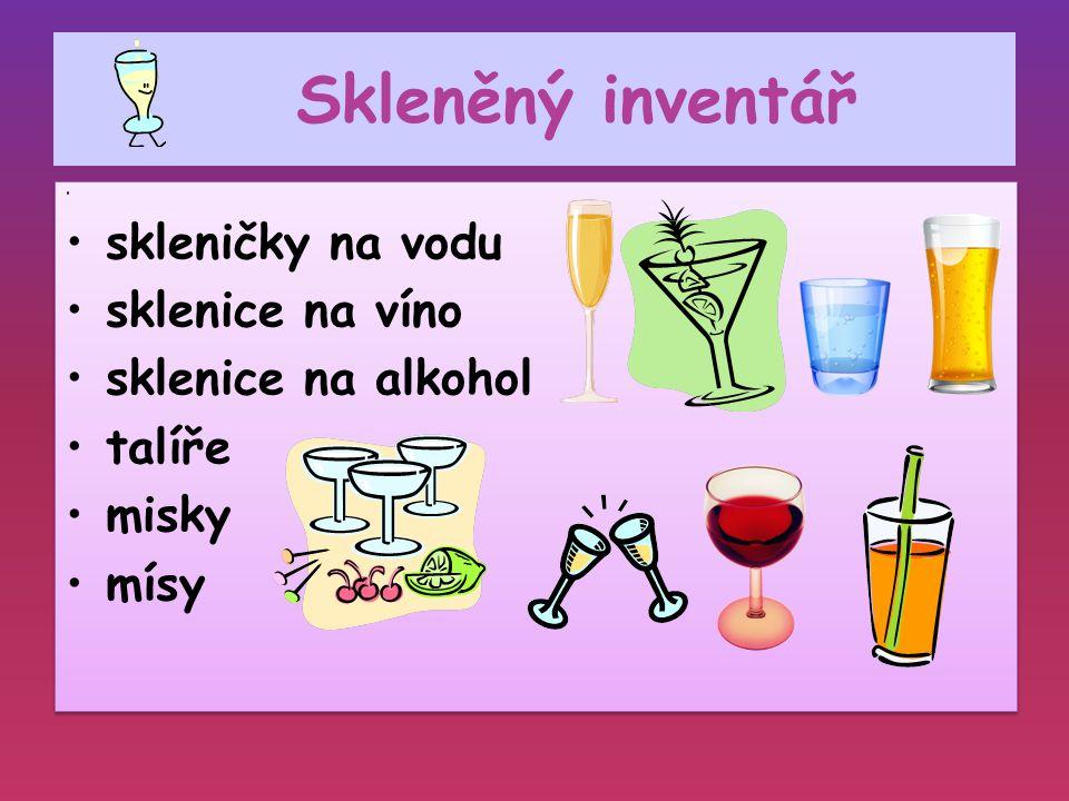 Skleněný inventář skleničky na vodu sklenice na víno