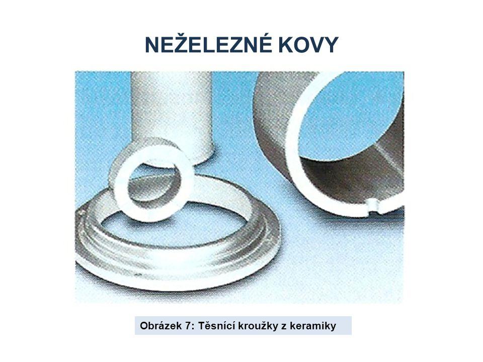 Neželezné kovy Obrázek 7: Těsnící kroužky z keramiky