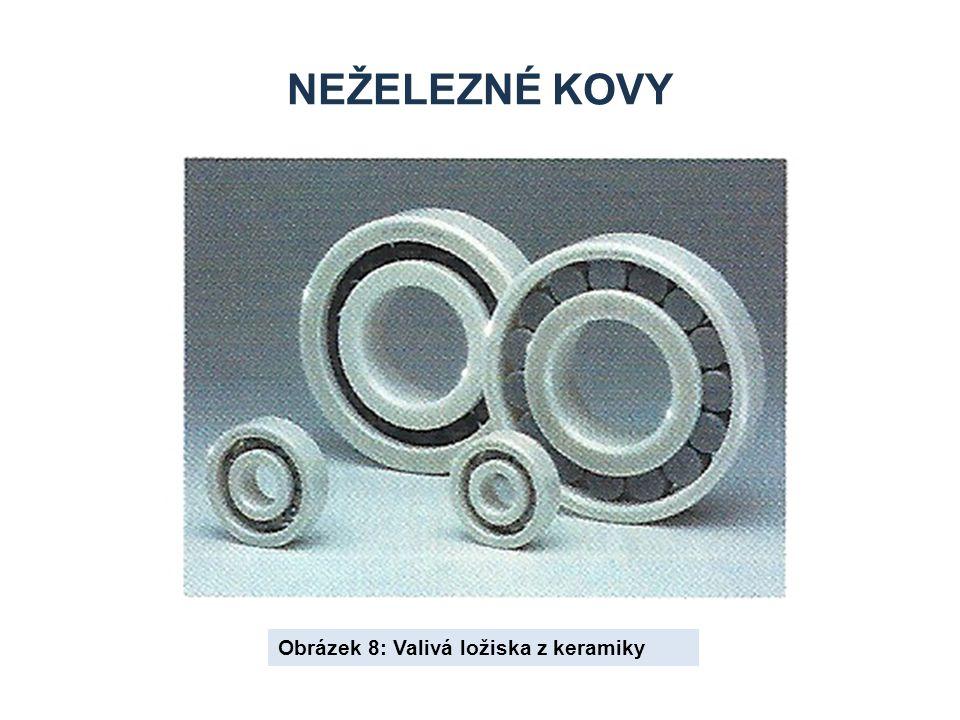 Neželezné kovy Obrázek 8: Valivá ložiska z keramiky