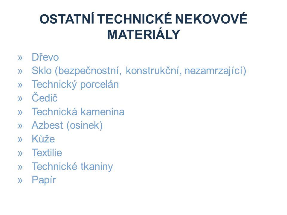 Ostatní technické nekovové materiály