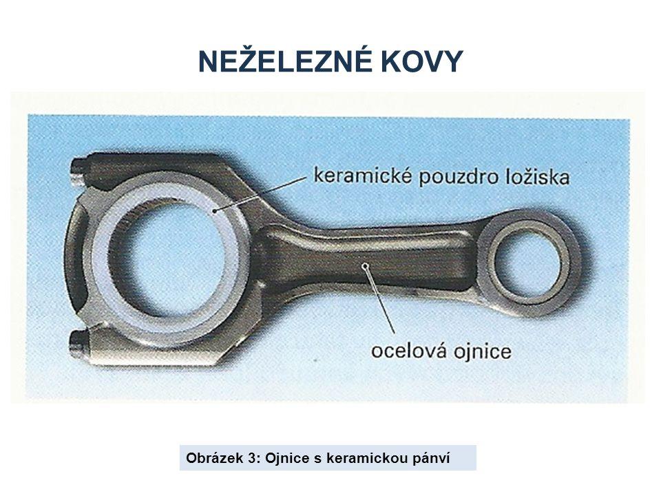 Neželezné kovy Obrázek 3: Ojnice s keramickou pánví