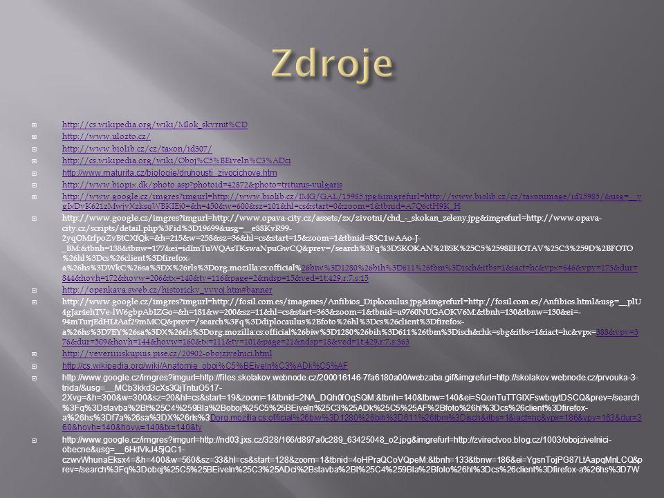Zdroje http://cs.wikipedia.org/wiki/Mlok_skvrnit%CD