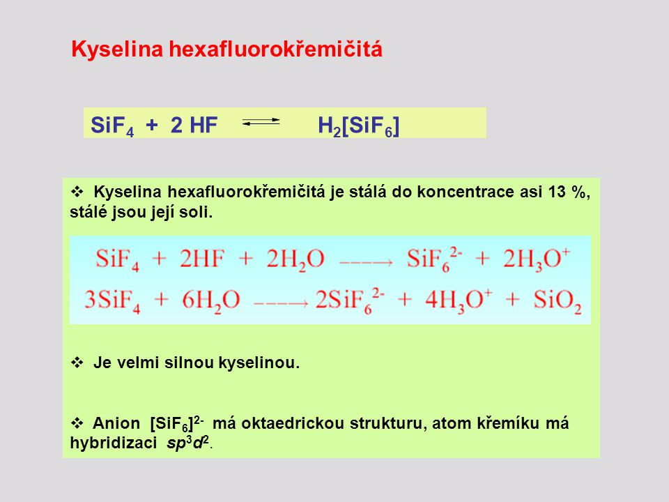 Kyselina hexafluorokřemičitá
