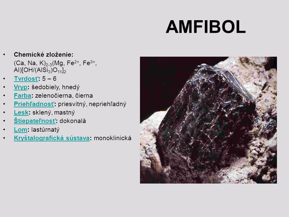 AMFIBOL Chemické zloženie: