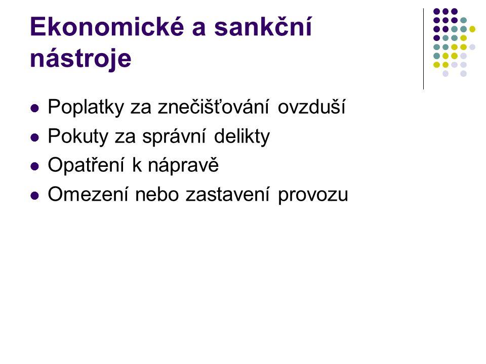 Ekonomické a sankční nástroje