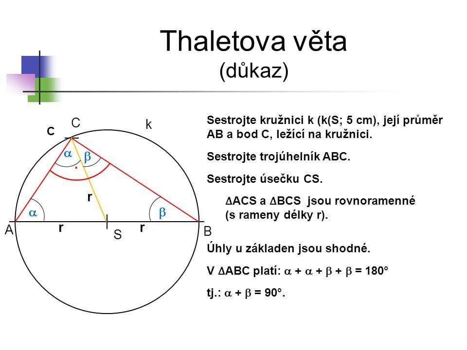 Thaletova věta (důkaz)