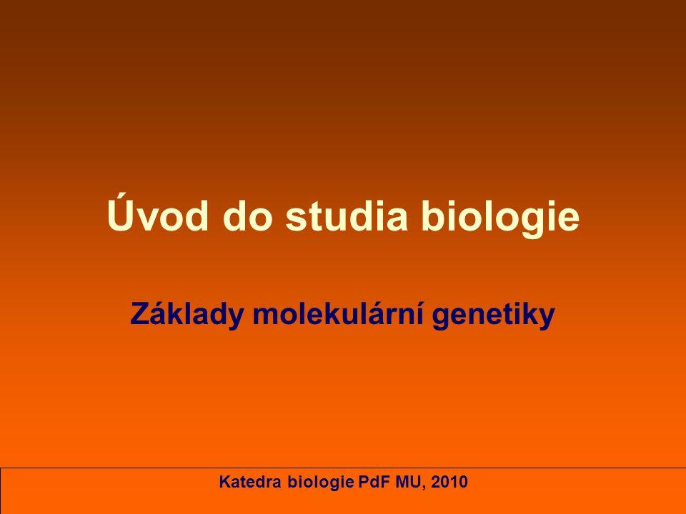 Úvod do studia biologie