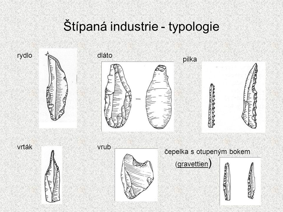 Štípaná industrie - typologie