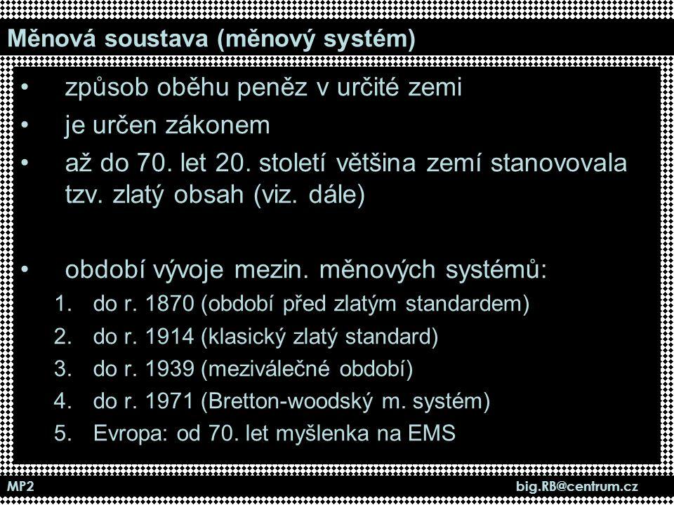 Měnová soustava (měnový systém)