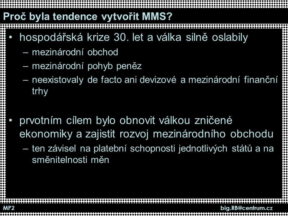 Proč byla tendence vytvořit MMS