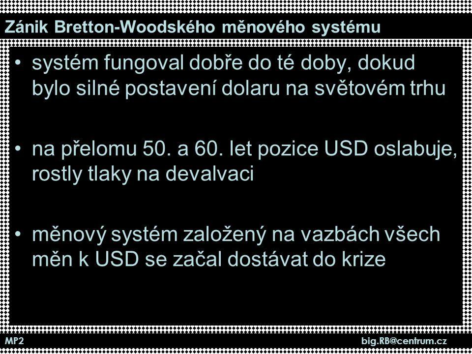 Zánik Bretton-Woodského měnového systému