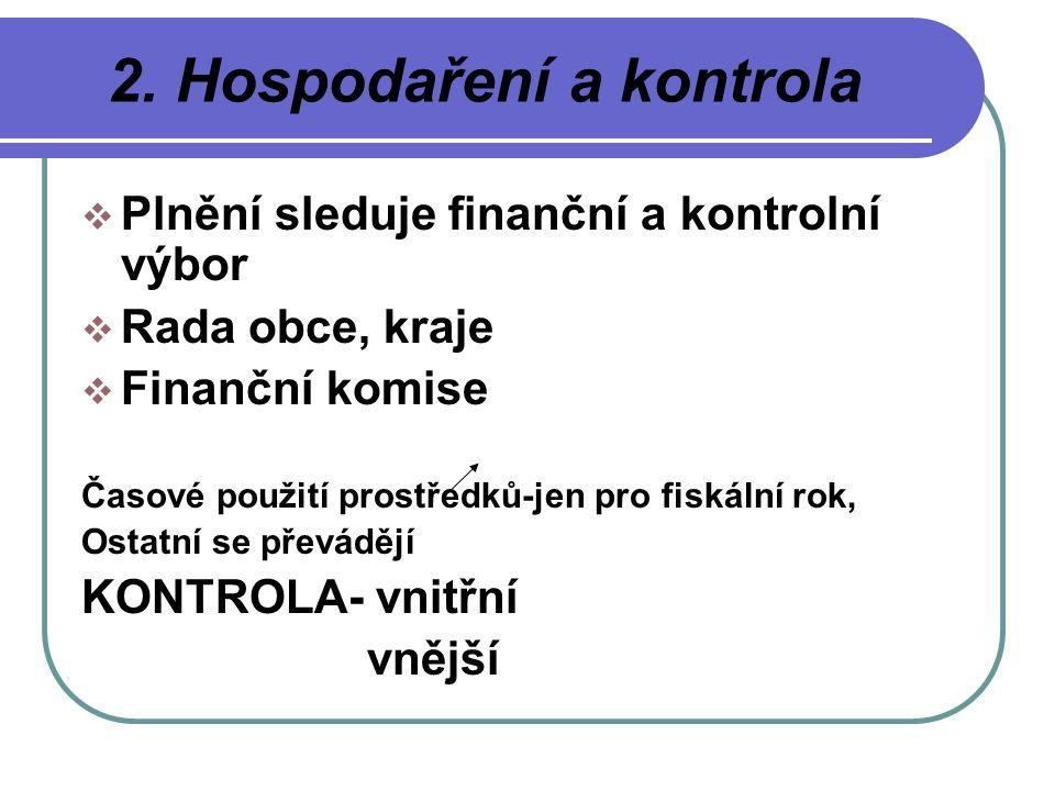 2. Hospodaření a kontrola