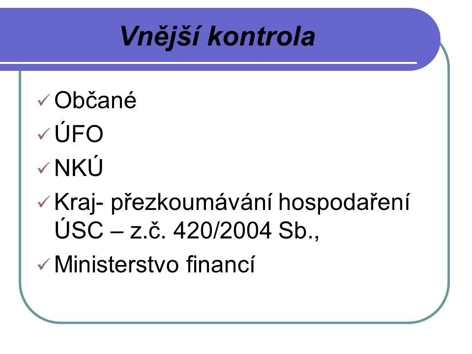Vnější kontrola Občané ÚFO NKÚ