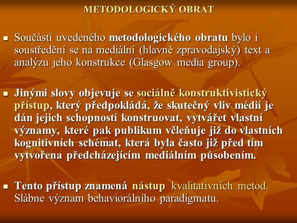 METODOLOGICKÝ OBRAT