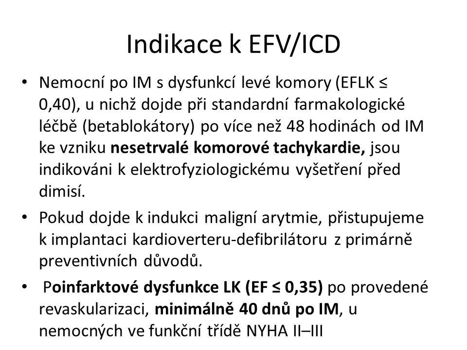 Indikace k EFV/ICD