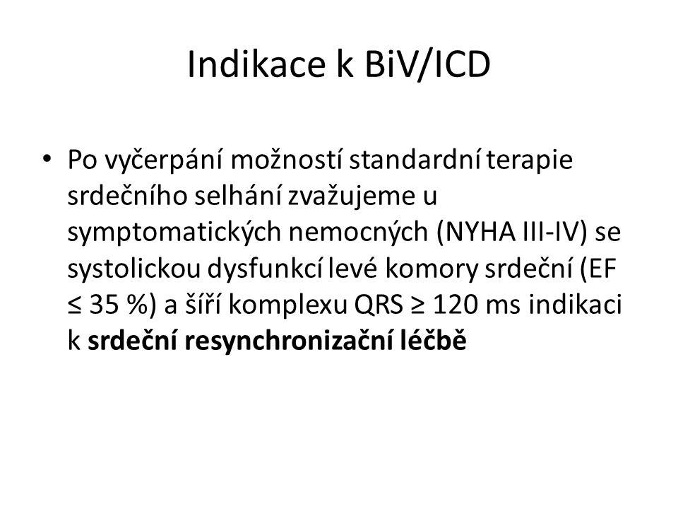 Indikace k BiV/ICD