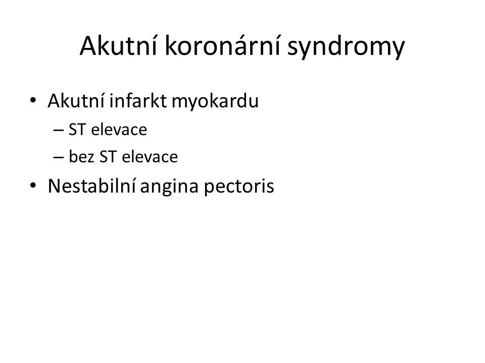 Akutní koronární syndromy