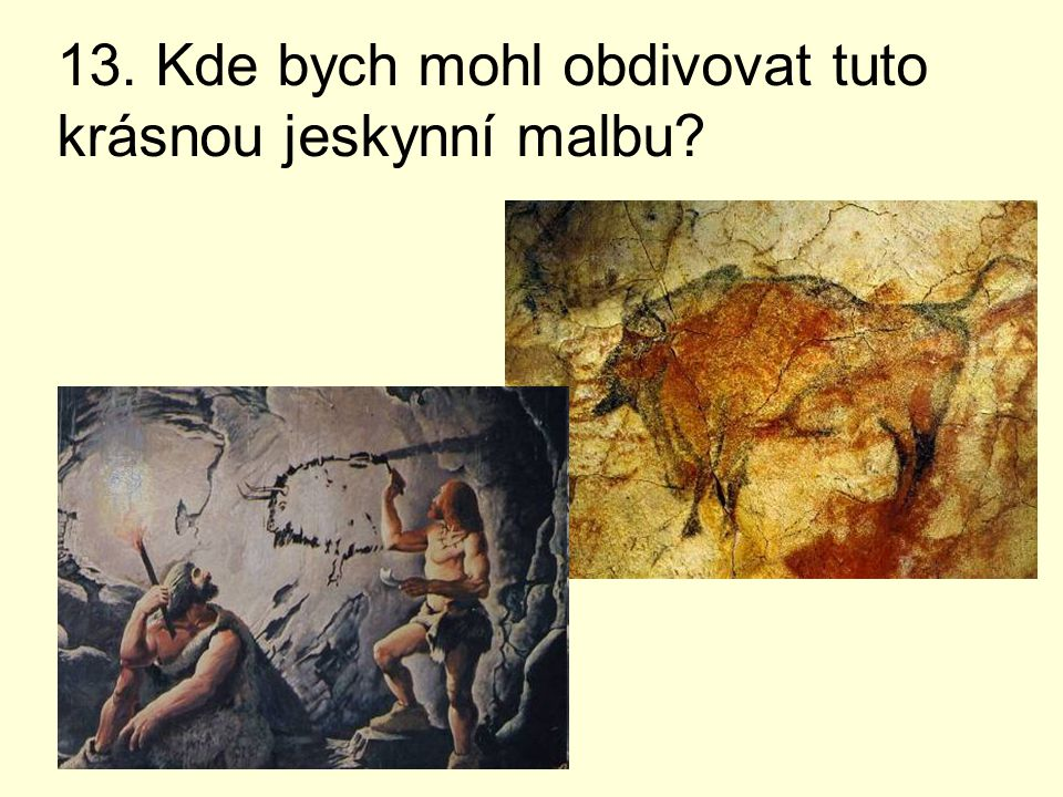 13. Kde bych mohl obdivovat tuto krásnou jeskynní malbu