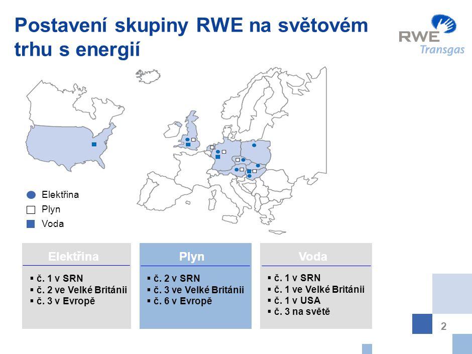 Struktura skupiny RWE RWE Innogy bylo přejmenováno na RWE npower začátkem srpna 2004.