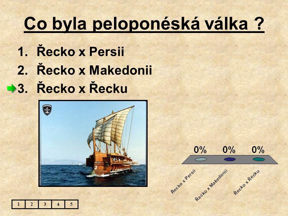 Co byla peloponéská válka