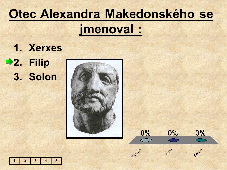 Otec Alexandra Makedonského se jmenoval :