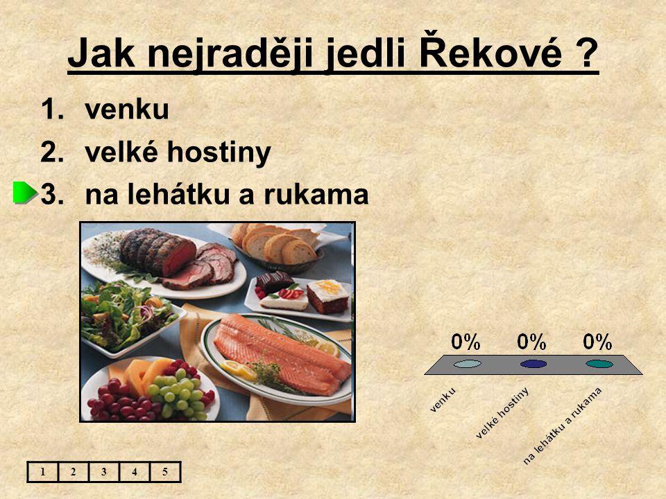 Jak nejraději jedli Řekové