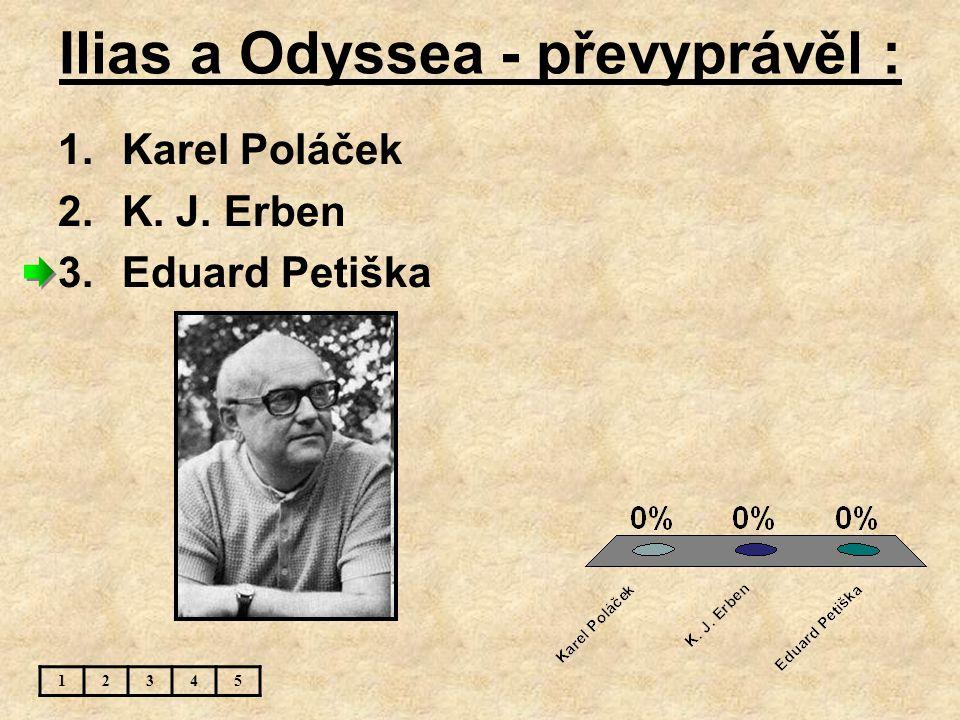 Ilias a Odyssea - převyprávěl :
