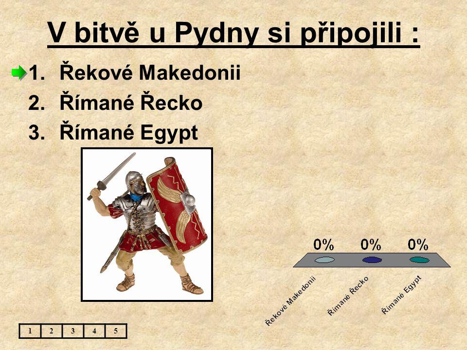 V bitvě u Pydny si připojili :