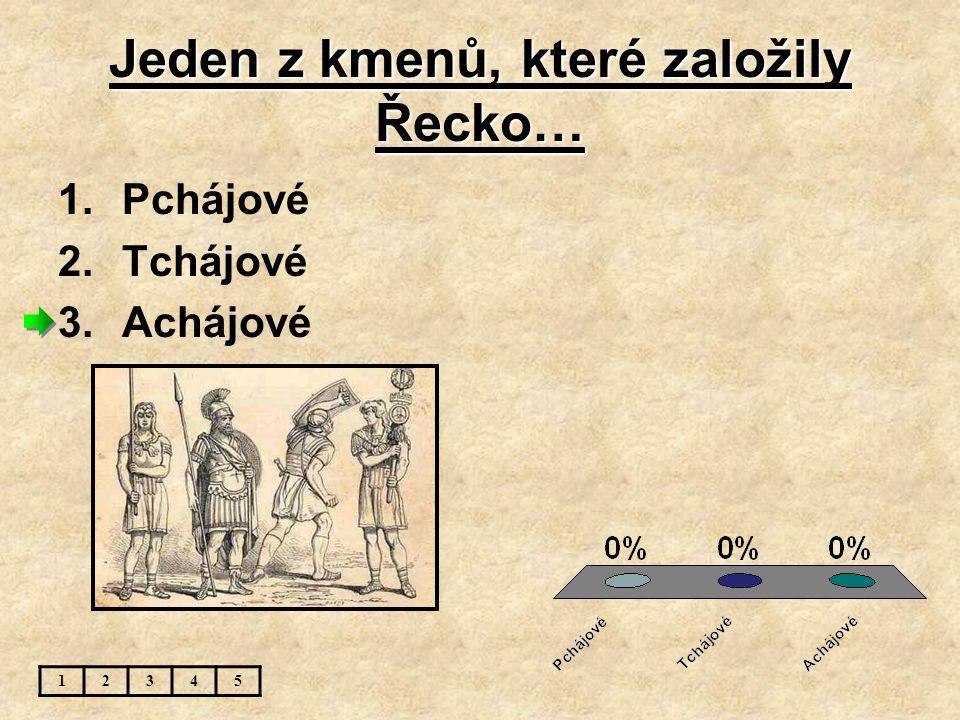 Jeden z kmenů, které založily Řecko…
