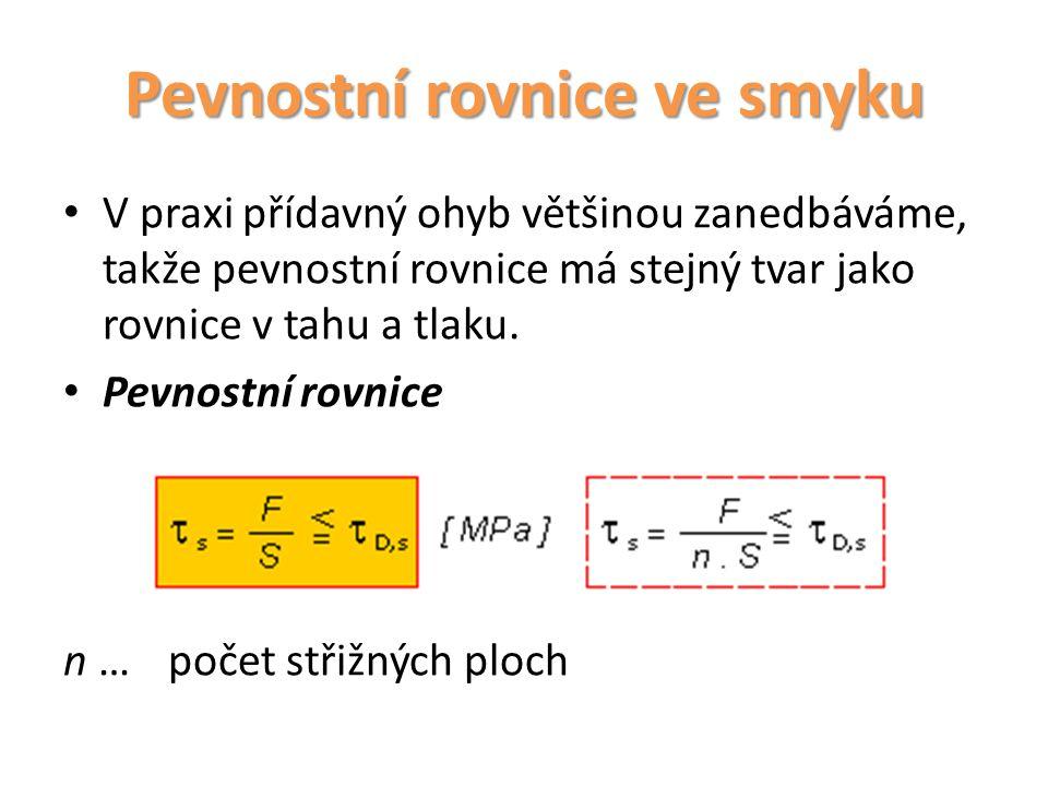 Pevnostní rovnice ve smyku