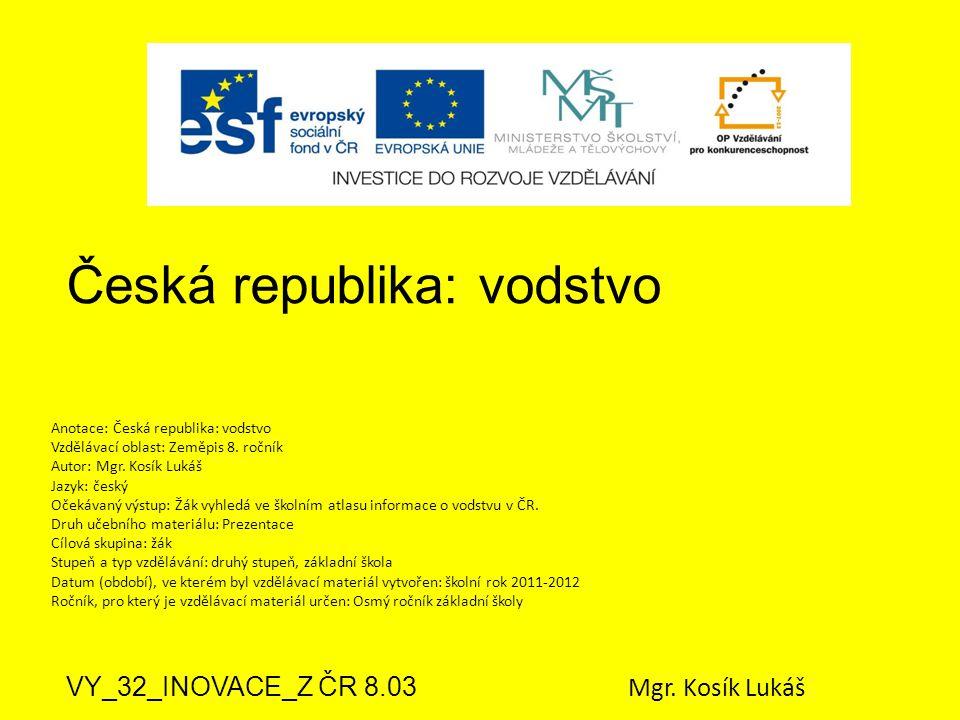 Česká republika: vodstvo