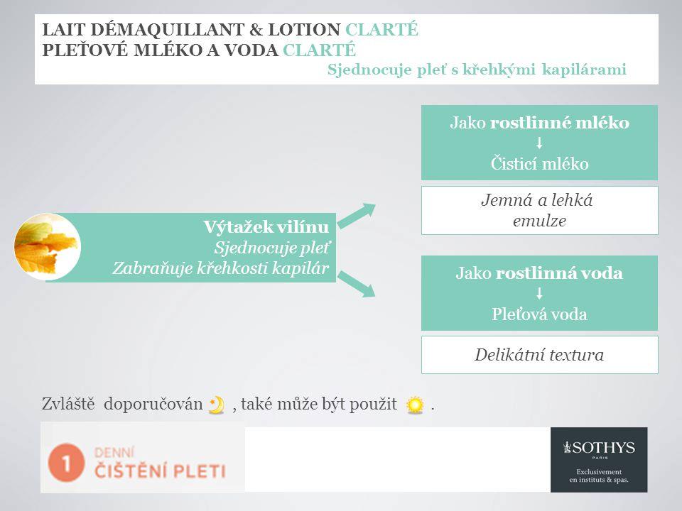 LAIT DÉMAQUILLANT & LOTION CLARTÉ PLEŤOVÉ MLÉKO A VODA CLARTÉ