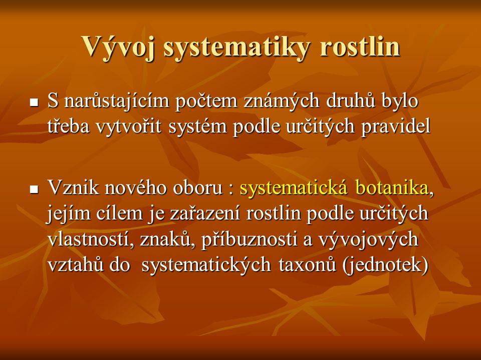 Vývoj systematiky rostlin