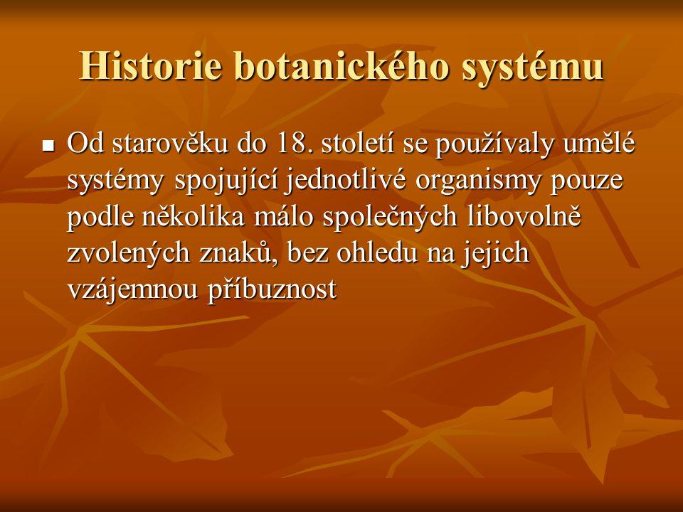 Historie botanického systému