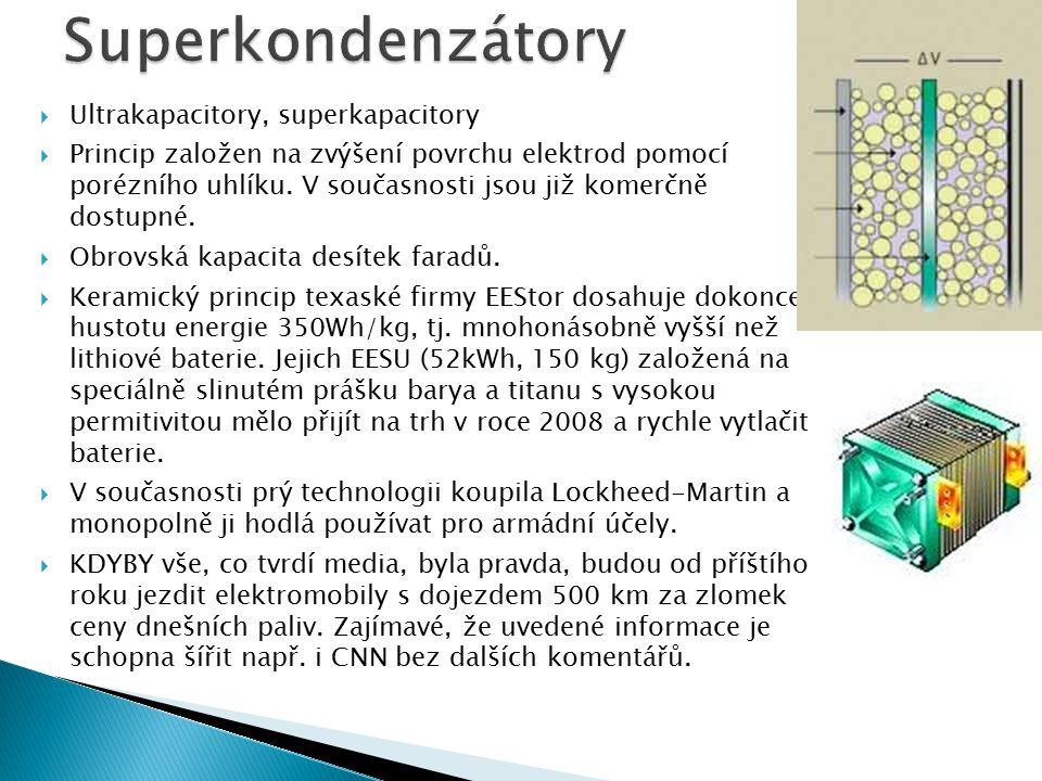 Superkondenzátory Ultrakapacitory, superkapacitory