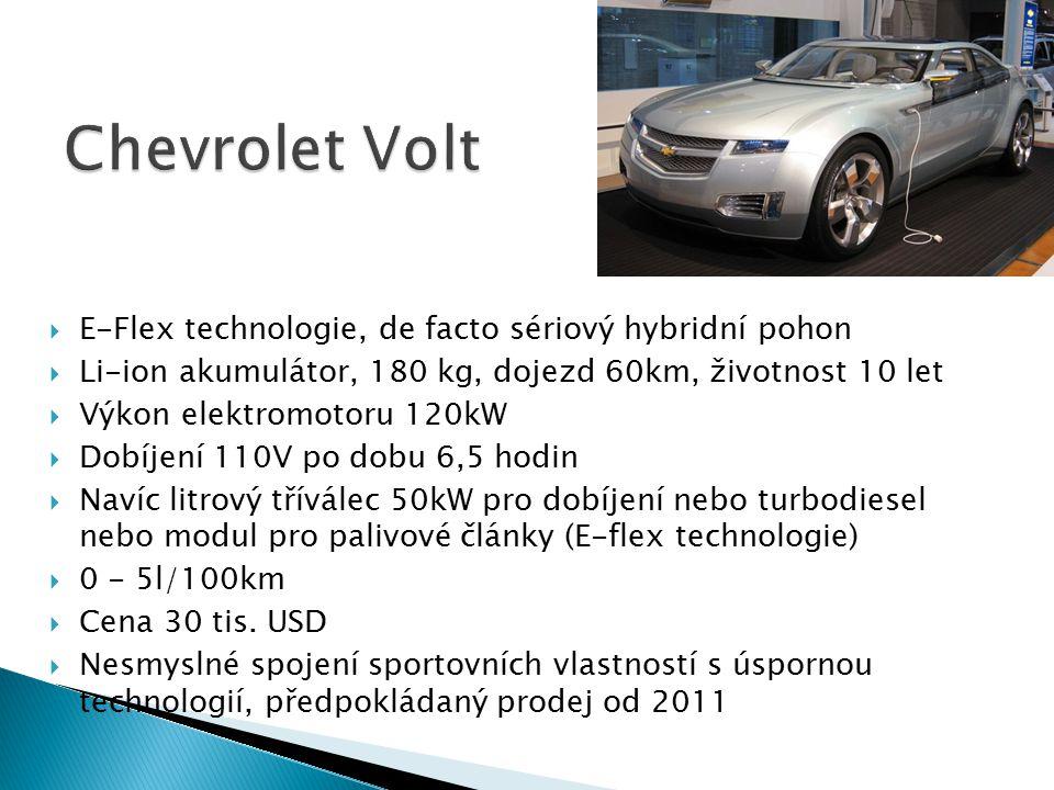 Chevrolet Volt E-Flex technologie, de facto sériový hybridní pohon