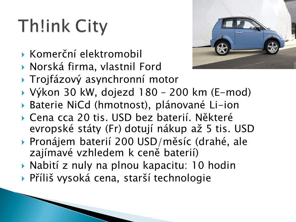 Th!ink City Komerční elektromobil Norská firma, vlastnil Ford