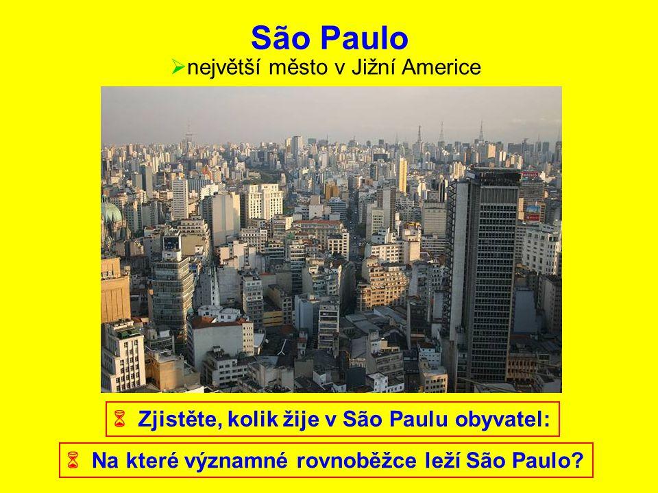 São Paulo největší město v Jižní Americe