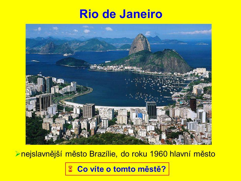 Rio de Janeiro nejslavnější město Brazílie, do roku 1960 hlavní město