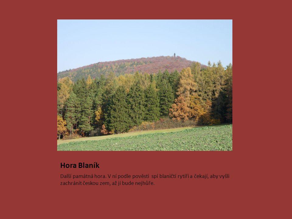 Hora Blaník Další památná hora.