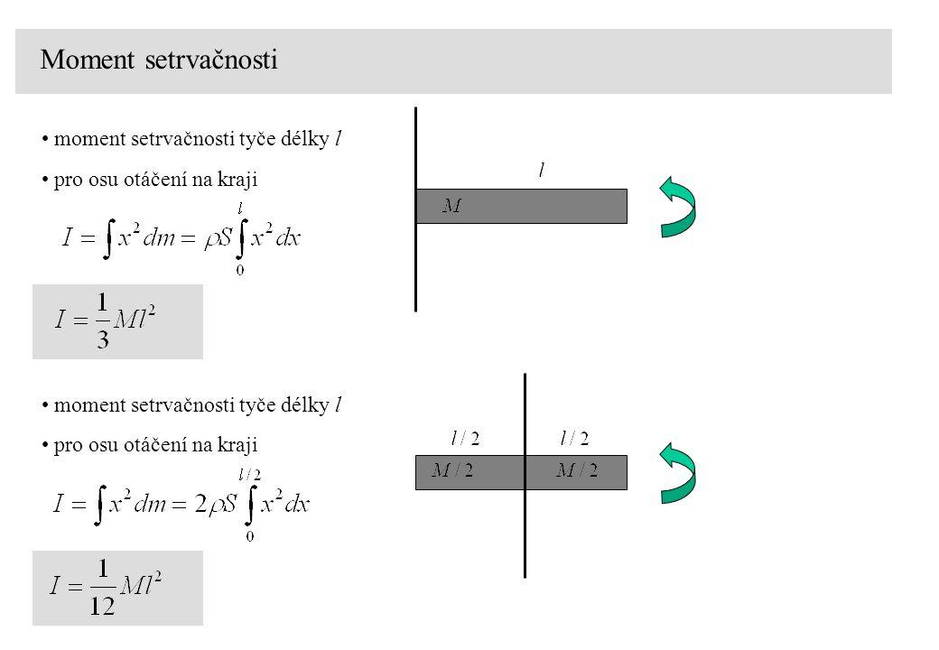 Moment setrvačnosti moment setrvačnosti tyče délky l