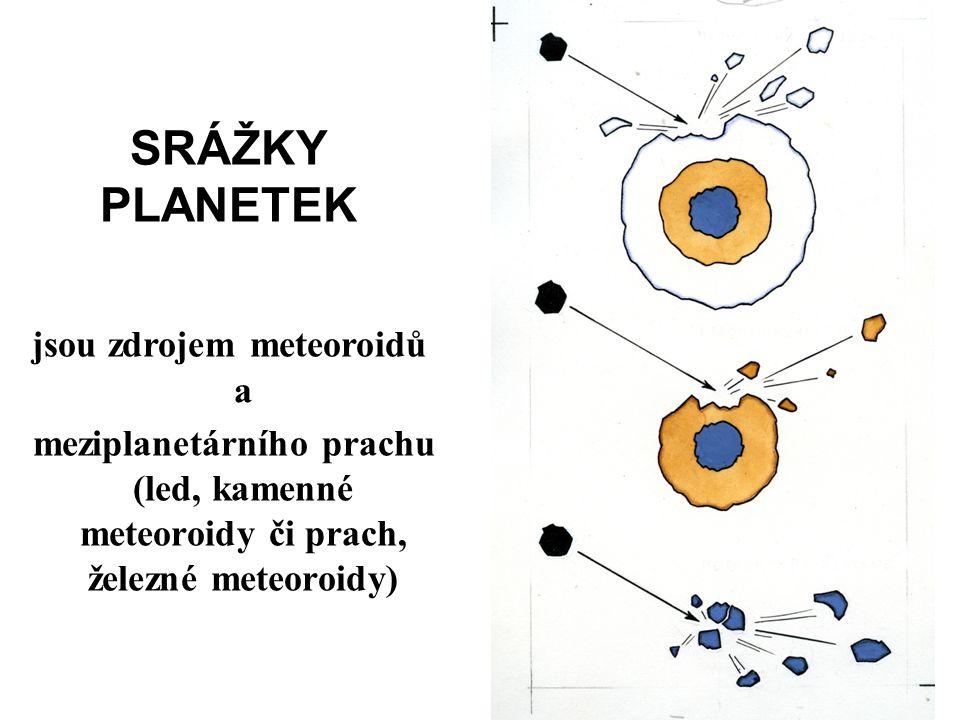 jsou zdrojem meteoroidů a