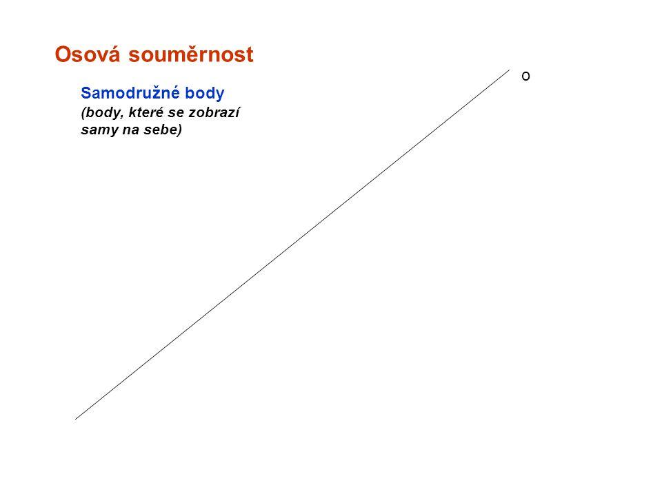 Osová souměrnost o Samodružné body (body, které se zobrazí