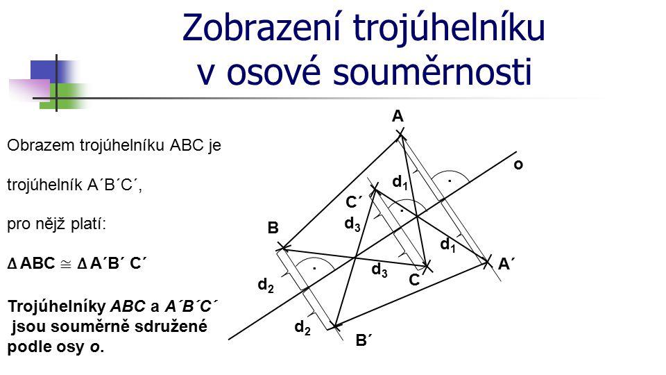 Zobrazení trojúhelníku v osové souměrnosti