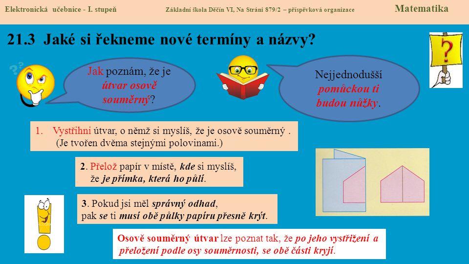 21.3 Jaké si řekneme nové termíny a názvy