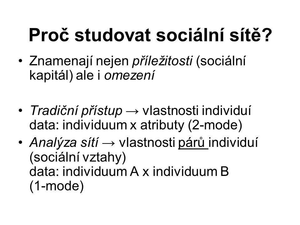 Proč studovat sociální sítě