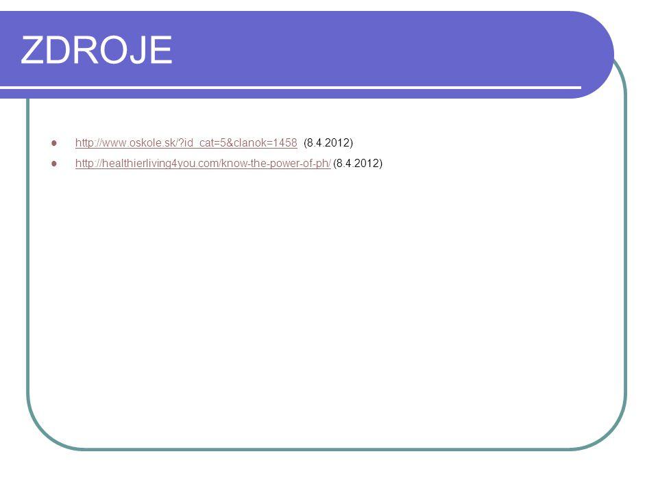 ZDROJE http://www.oskole.sk/ id_cat=5&clanok=1458 (8.4.2012)