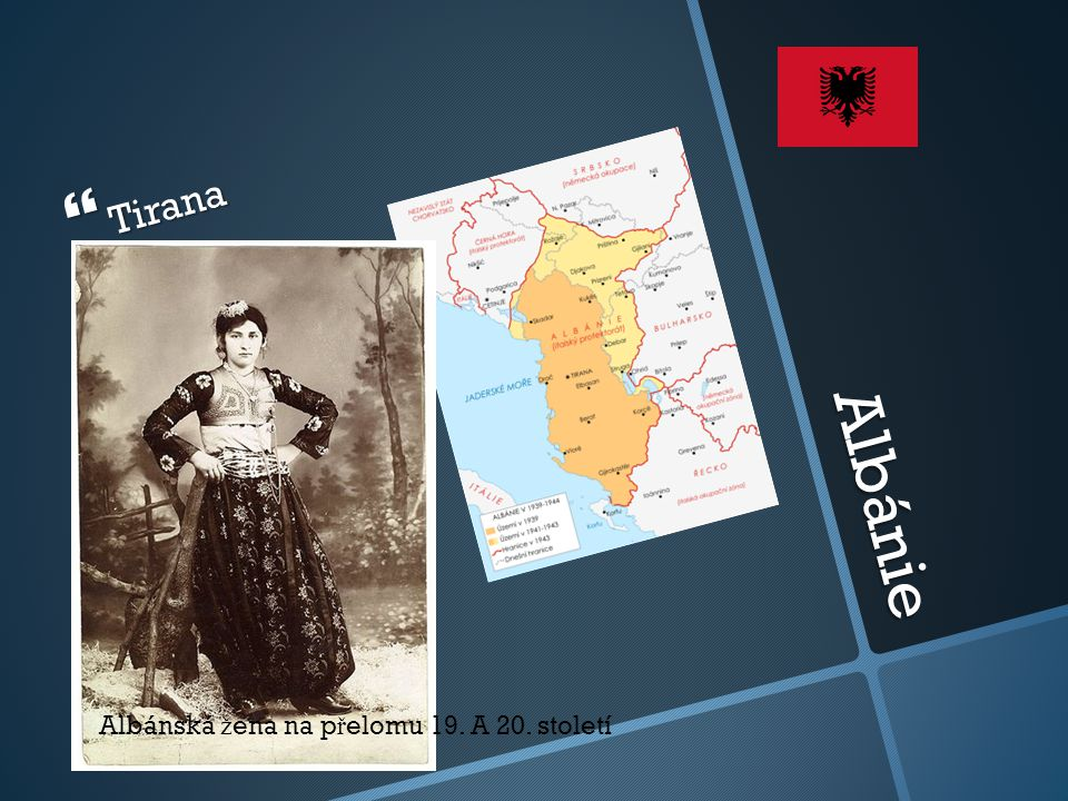 Tirana Albánie Albánská žena na přelomu 19. A 20. století