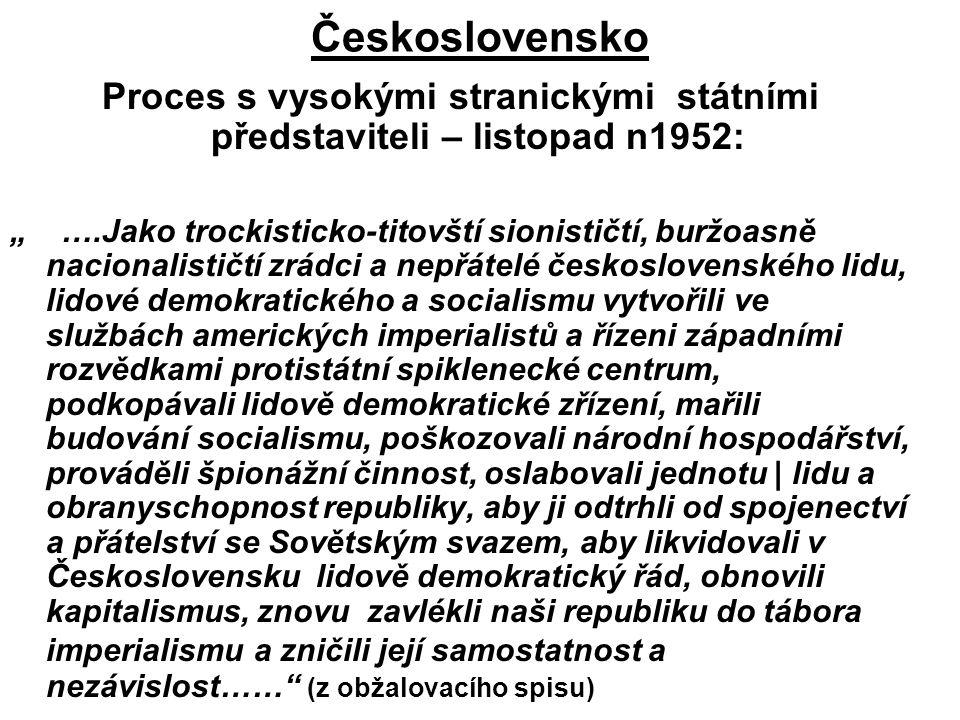 Proces s vysokými stranickými státními představiteli – listopad n1952: